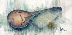 Mandolin Evening by Remi LaBarre -  sized 30x15 inches. Available from Whitewall Galleries